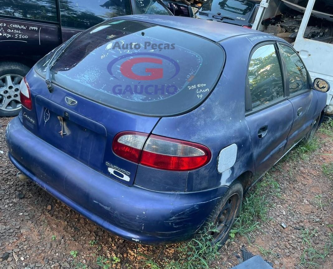 SUCATA DAEWOO LANOS HATCH SX 99 1.6 GAS. 16V 106CV, CÂMBIO MANUAL