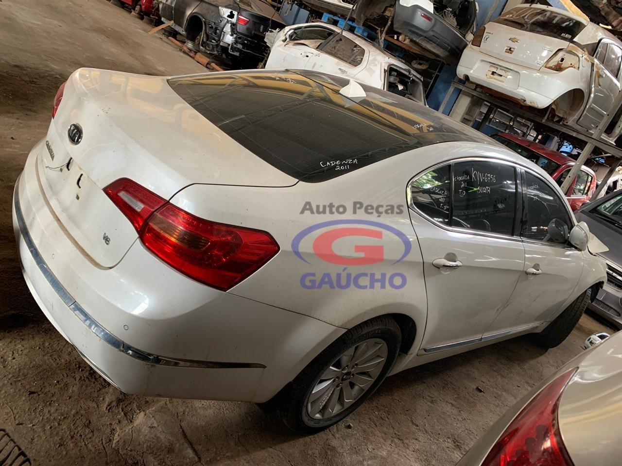 SUCATA KIA CADENZA 2011 3.5 V6 GAS. 24V, 290 CV, CÂMBIO AUTOMÁTICO
