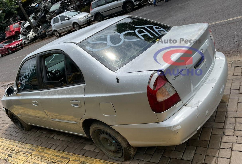 SUCATA HYUNDAI ACCENT GLS 2000 1.5 GAS. 16V, 99 CV, CÂMBIO MANUAL.